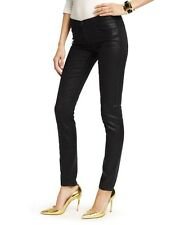 JUICY COUTURE BLACK CRACKLE FOIL SKINNY JEAN size 30 new $198