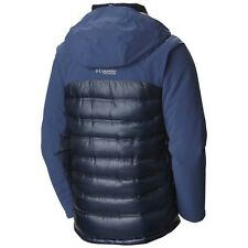 New Columbia Heatzone 1000 900-fill Down Jacket (Men's L, Blue) NWT