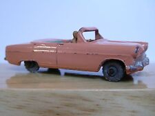 Matchbox Lesney No.39a Ford Zodiac Convertible (Peach/Green METAL WHEELS No Box)