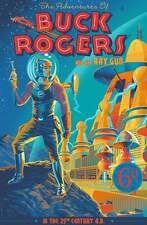 BUCK ROGERS AND HIS RAY GUN Laurent DURIEUX Regular limited edition print #150