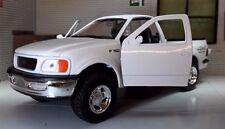 1:24 Escala Welly 1998 Ford F-150 F150 Blanco 4x4 Flareside Supercab Camioneta