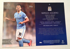 2016 Topps UEFA Champions 5x7 GOLD (#/10 Made) SERGIO AGUERO Manchester City #93