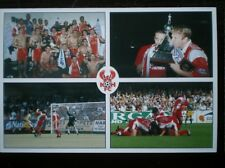 POSTCARD KIDDERMINSTER HARRIERS FOOTBALL CLUB NATIONWIDE CONF CHAMPS 1999-2000