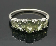 9Carat White Gold Simulated Alexandrite Eternity Ring (Size N 1/2) 6mm Wide