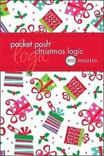 Pocket Posh Christmas Logic Vol. 4 : 100 Puzzles by Puzzle Society Staff NEW