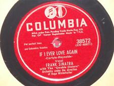 """FRANK SINATRA Every Man Should Marry/ If I Ever Love Again 10"""" 78 Columbia 38572"""