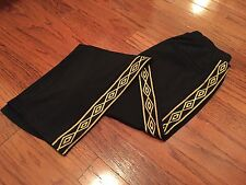 UMBRO SOCCER BLACK GOLD TRACK PANTS M KAPPA GOSHA RUBCHINSKIY NEEDLES CHAMPION