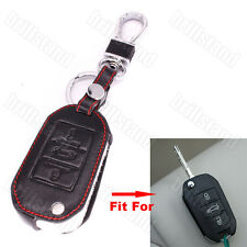 Leather Car Remote Key Case Cover Holder For Peugeot 301 308S 408 508 2008 3008
