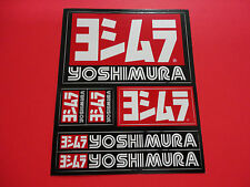 "GENUINE YOSHIMURA STICKER SHEET DECAL. 4.25"" X 5.25"" FAST SHIPPING, USA SELLER!"