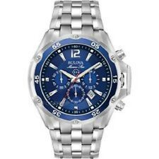 Bulova Marine Star 98B282 Stainless Steel Men's Chronograph Watch - Free Ship