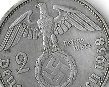 Rare Old Antique Silver 1938 WWII Germany Nazi Eagle Bullion Collection War Coin
