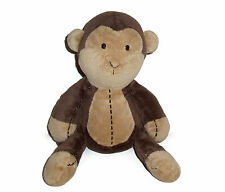 "11"" Carters 2005 Brown Tan Plush Monkey Stitches Baby Stuffed Animal Toy 8632"
