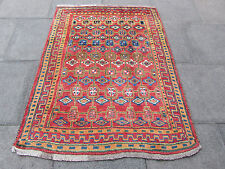 Old Traditional Hand Made Persian Oriental Gabbeh Wool Red Colourful 160x125cm