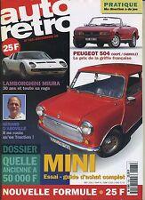 AUTO RETRO n°183 Décembre 1995 MINI 504 CABRIOLET LAMBORGHINI MIURA