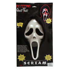 BLEEDING SCREAM MASK GHOST FACE HALLOWEEN FANCY DRESS