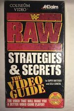 WWF Raw Strategies & Secrets Video Guide (VHS, 1994) *NEW* WWE COLISEUM VIDEO