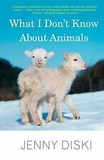What I Don't Know About Animals, Diski, Jenny, Good Condition, Book
