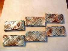 6 Antique Reclaimed Beaver Falls Art Pottery Architectural Tiles