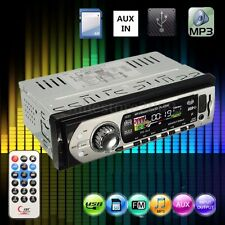 Car Auto Stereo Audio DIN In-Dash Aux Input Receiver SD USB MP3 FM Radio Player
