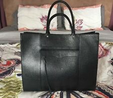 NWT Rebecca Minkoff LARGE MAB Tote Handbag Purse Leather BLACK Fits Laptop