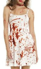 PLUS SIZE SKATER COSTUME DRESS ~ BLOOD SPLATTER 3X FIT & FLARE ***LAST ONE***