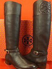 NIB TORY BURCH MARLENE COCONUT TUMBLED LEATHER  REVA TALL RIDING  BOOTS 7.5 $495