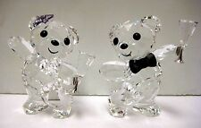 KRIS BEAR COUPLE LET'S CELEBRATE SET OF TWO CRYSTAL 2015 SWAROVSKI #5063325