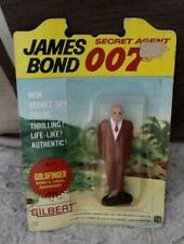JAMES BOND vintage 1965 Gilbert figures carded rare  GOLDFINGER