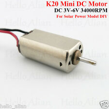 DC 3V-6V 34000RPM High Speed Mini Micro K20 Motor silent motor Elektromotoren