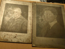 TWO ANTIQUE METAL PLATE PHOTOGRAPHIC NEGATIVES