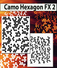 airbrush stencil Hexagon Shapes Camo Double Templates Stencils Spray Vision