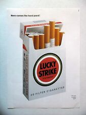 PUBLICITE-ADVERTISING :  LUCKY STRIKE hard pack  1990 Cigarettes