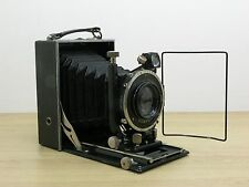Folding Plate Camera With Wirgin Zeranar 115mm f3.5 Lens F Deckel Compur Shutter