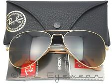 Ray Ban Aviator RB 3025 112/85 Gold + Brown -Made in Italy 100% Authentic 55 mm