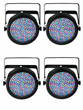 Chauvet SlimPar 64 LED DMX Slim Par Can Stage Pro DJ RGB Light Effect (4 Pack)