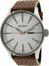 Nixon Men's Sentry A1051752 Brown Leather Quartz Watch
