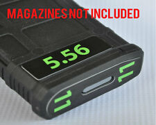 5.56 MAGAZINE STICKERS fits MAGPUL PMAG 30 GEN M3 AR15-M16-M4 LIME NUMBERS 7-12
