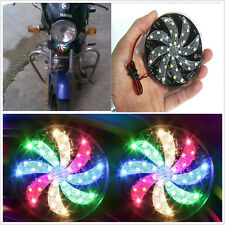 2 Pcs Circular Colourful LED Truck Motorcycle Propeller Caution Light Universal