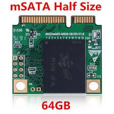 64GB SSD mSATA Mini (Half Size) Solid State  KingSpec For Intel Samsung Signal