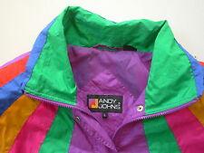 Andy Johns women's NEON Rainbow Windbreaker Ski Jacket size: L