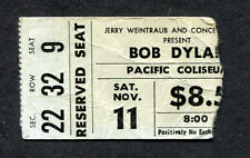 Bob Dylan 1978 Concert Ticket Stub Street Legal Tour Vancouver Pacific Coliseum