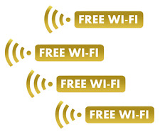 4 x FREE WI-FI VINYL STICKER DECALS            (wifi1)