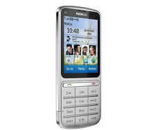 Nokia C Series C3-01 - Silver (Unlocked) WIFI  Cellular Phone  Free Shipping