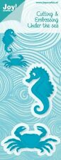JOY CRAFTS DIE CUTTING & EMBOSSING STENCIL -  SEAHORSE, CRAB 6002/0328