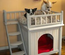 Small Cat House Home Shelter Wooden Bed Dog Pet Den Kennel Cabin Indoor Outdoor