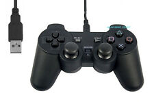 Black USB Playstation PS2 Controller Gamepad PC notebook windows win laptop