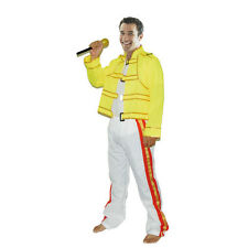 80's Freddie Mercury Costume Wembley Rock Star Mens Freddy Fancy Dress Outfit