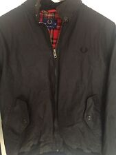 "RARE Vintage FRED PERRY British  Harrington Bomber Jacket Black 38"" 96cm England"