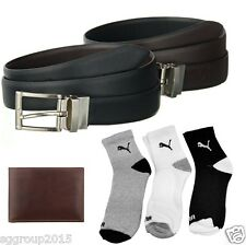 BROWN WALLET -REVERSIBLE BELT GENUINE PURE LEATHER COMBO FOR MEN'S