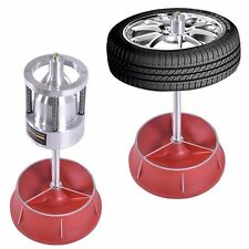 Heavy Duty Pro Hubs Wheel Balancer W/ Bubble Level Rim Tire Cars Truck Portable